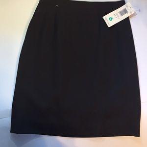 Liz Claiborne wool skirt brown new